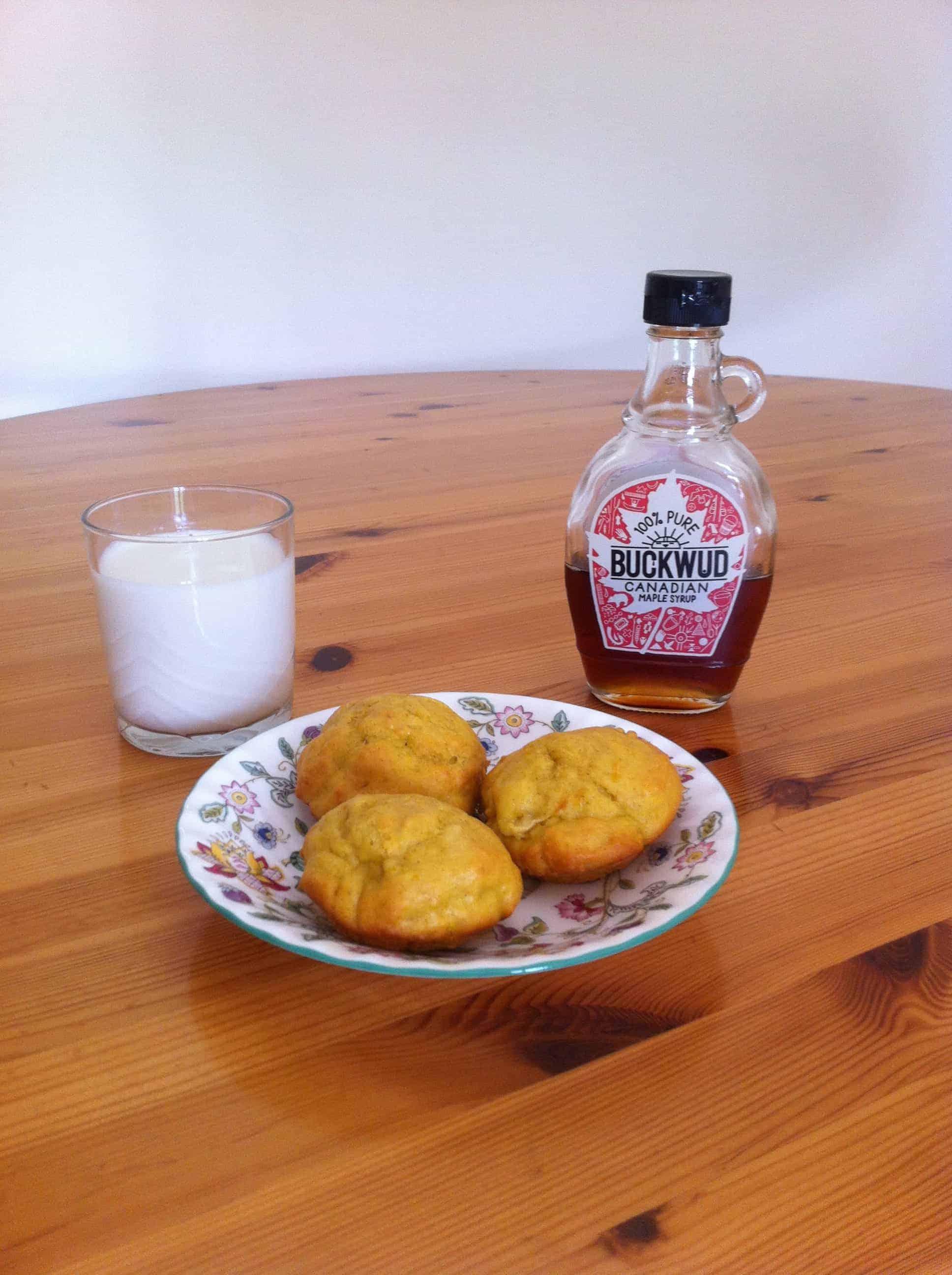 Kabocha Pumpkin Spice Muffins (Dairy-Free)