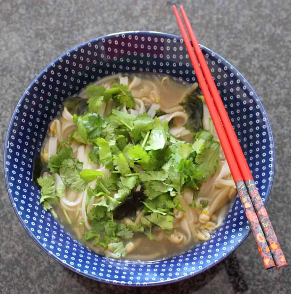 Vegan Rice Noodle Soup (GF)