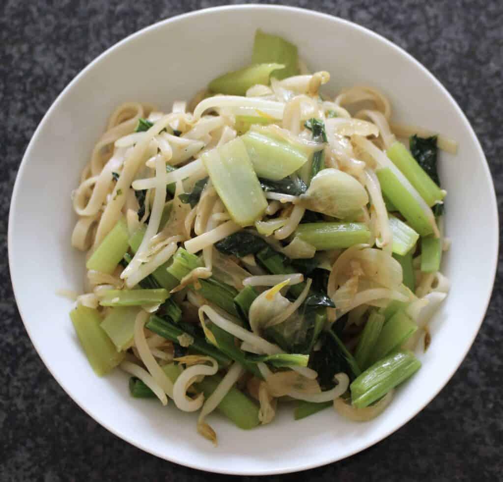 Japanese BBQ Sauce Noodle Stir Fry (Vegan + GF)