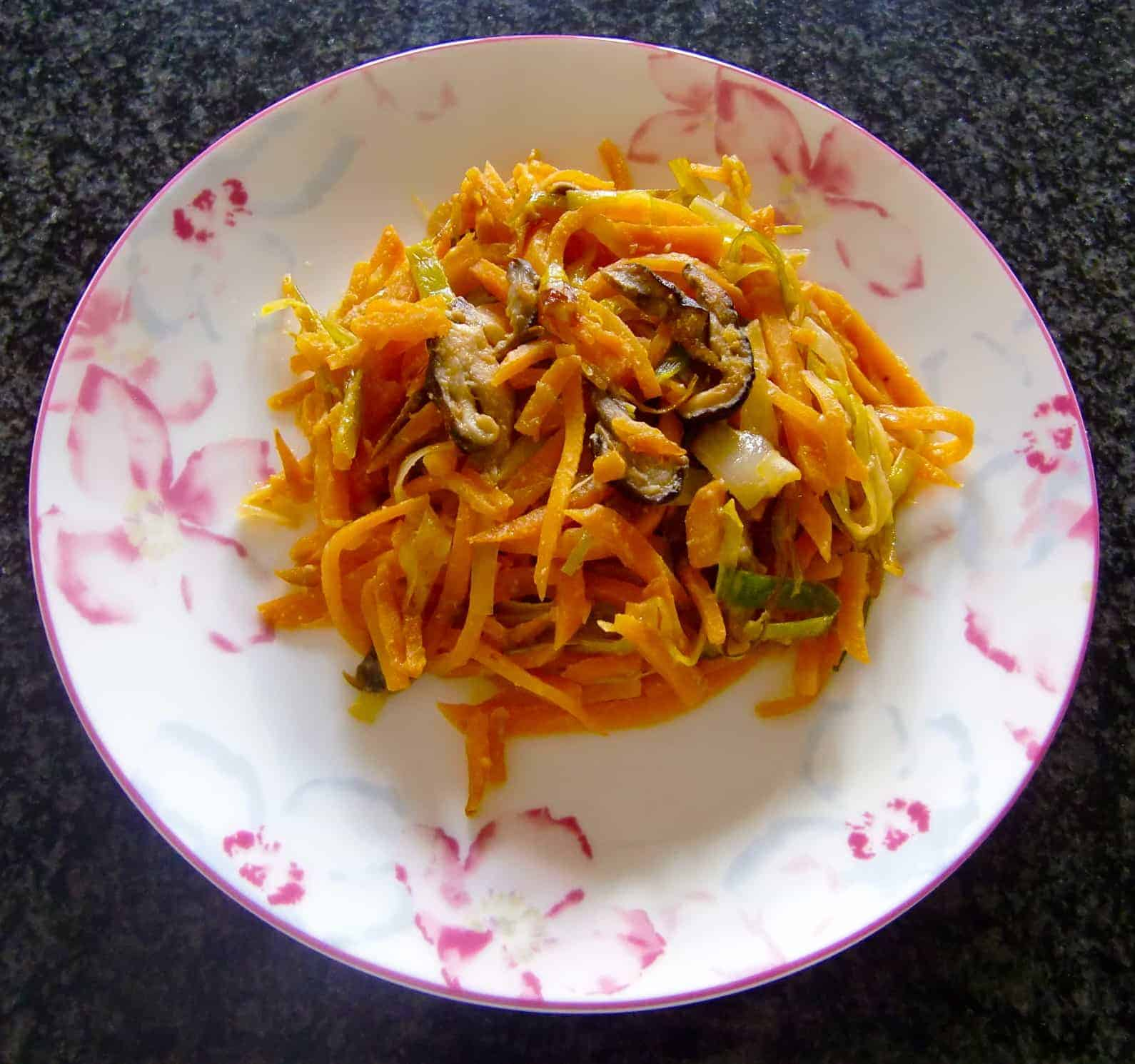Creamy Vegan Miso Sauce Sweet Potato Noodles