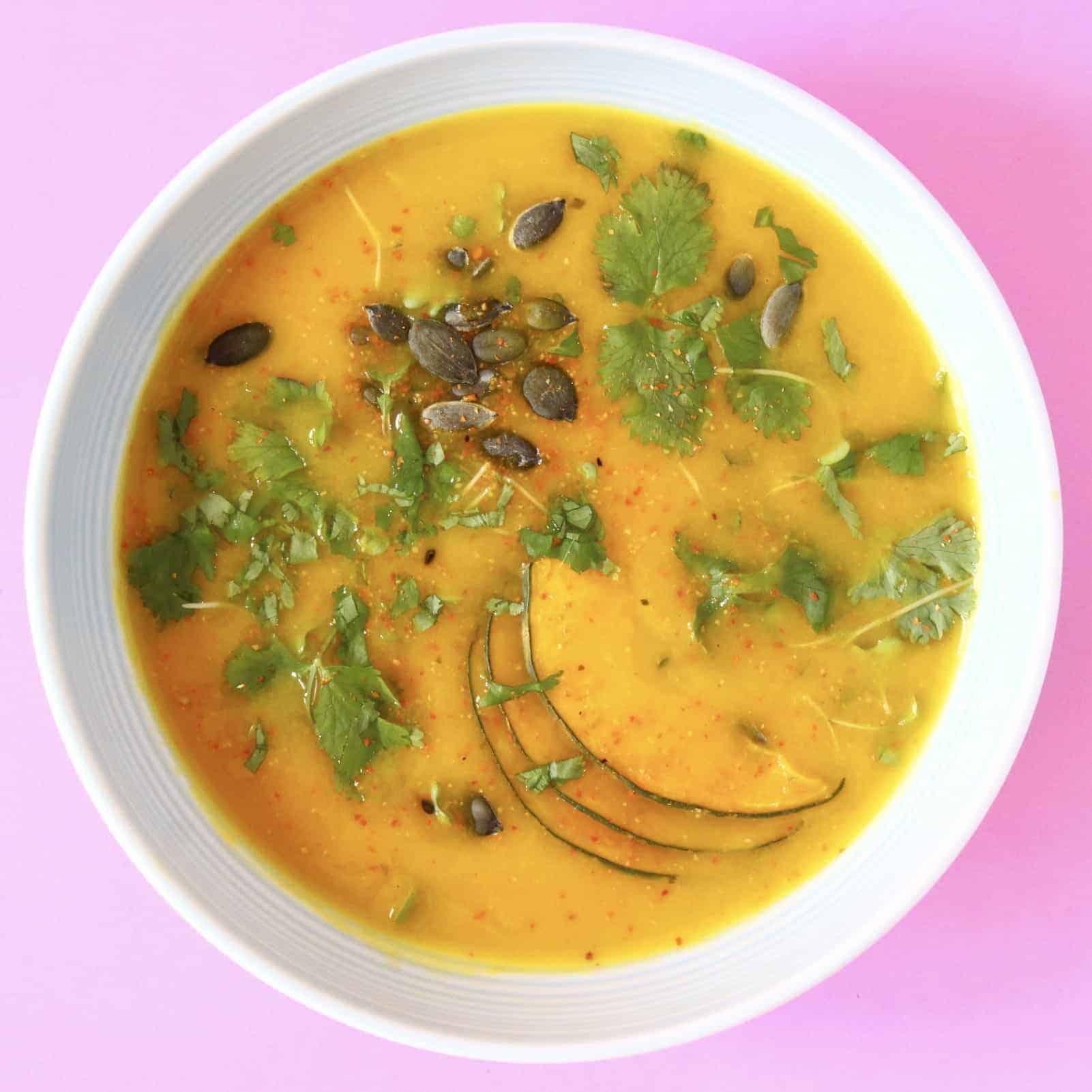 Vegan Miso Pumpkin Soup (GF)