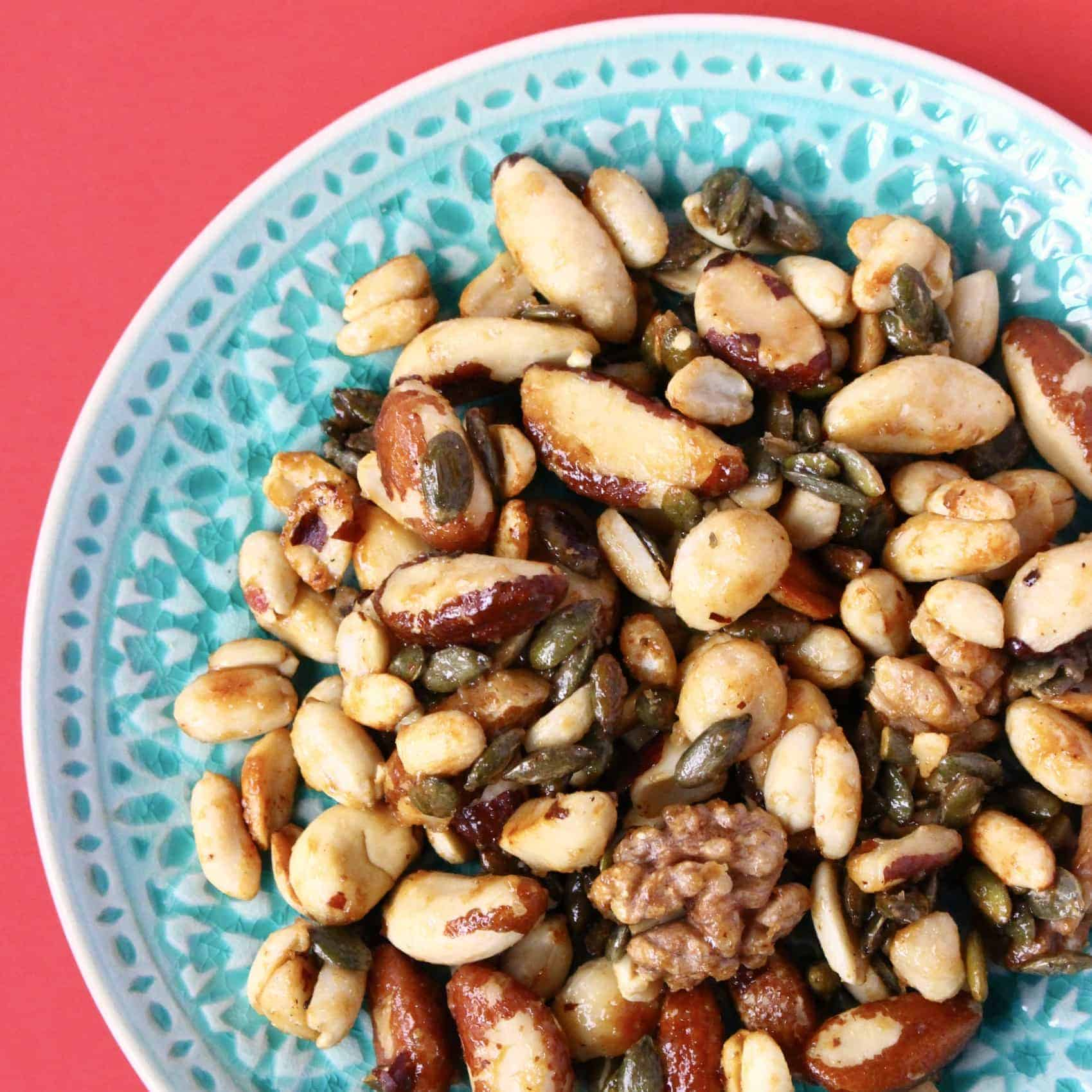 Healthy Caramelised Nuts (Vegan + GF)