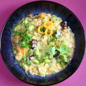Vegan Pumpkin Chestnut Risotto (GF)