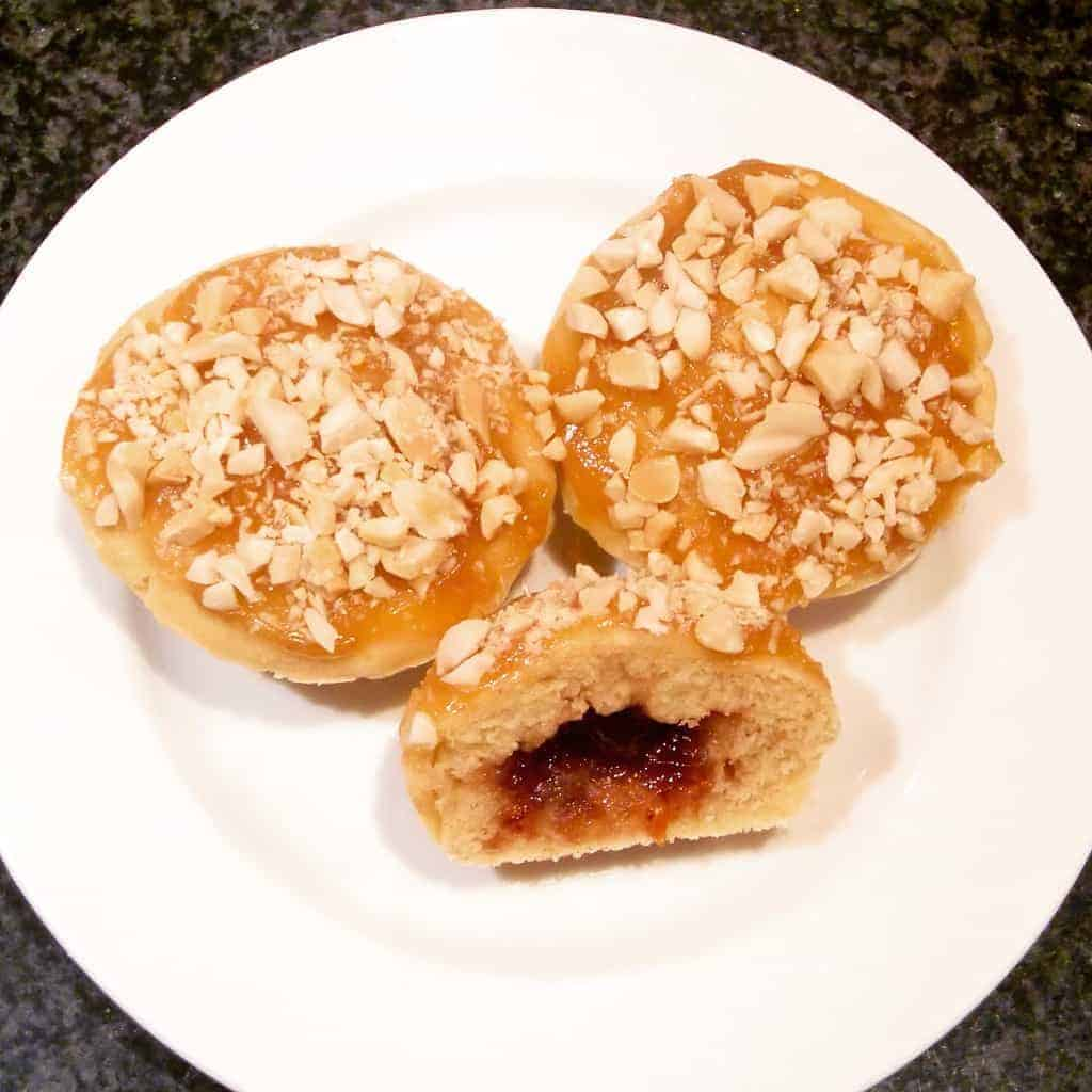 Vegan Peanut Butter Jelly Baked Donuts