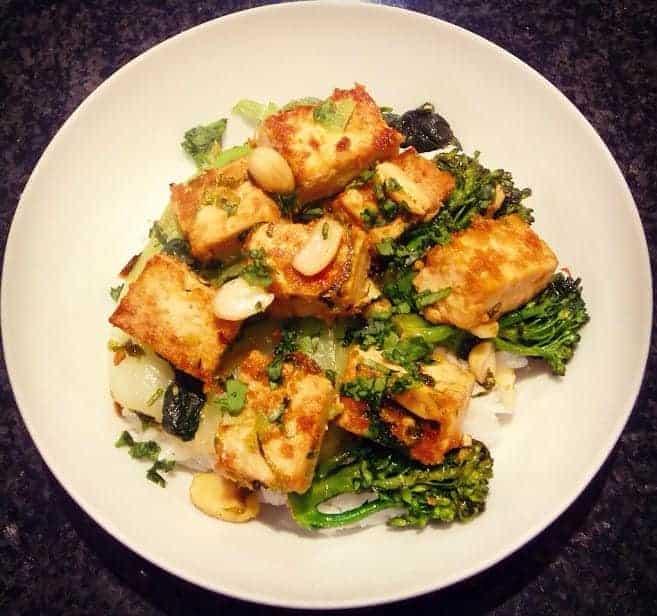 Peanut Tofu Stir Fry (Vegan + GF)