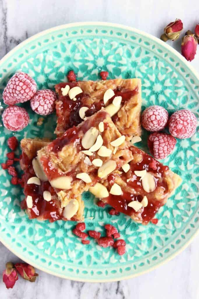 Vegan Peanut Butter Jelly Blondies