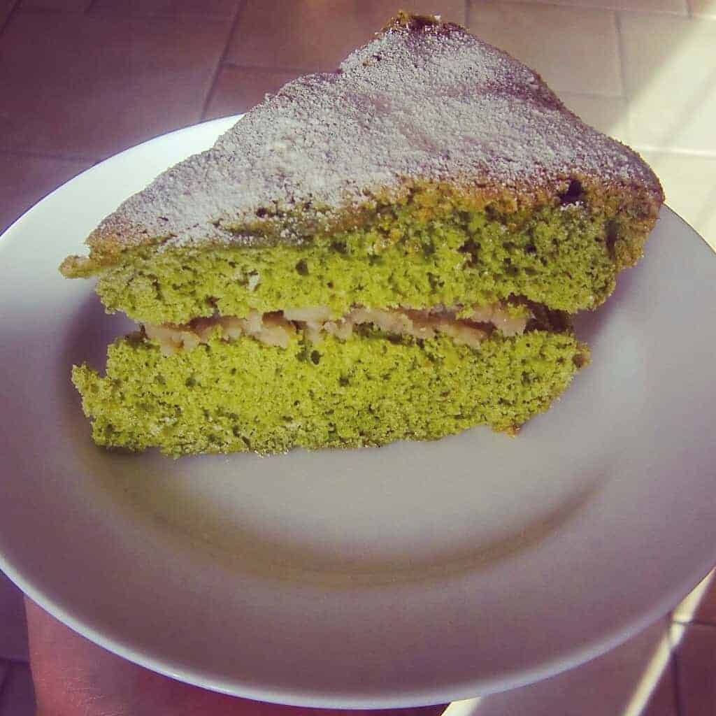 Matcha Chestnut Cake (Dairy-Free)