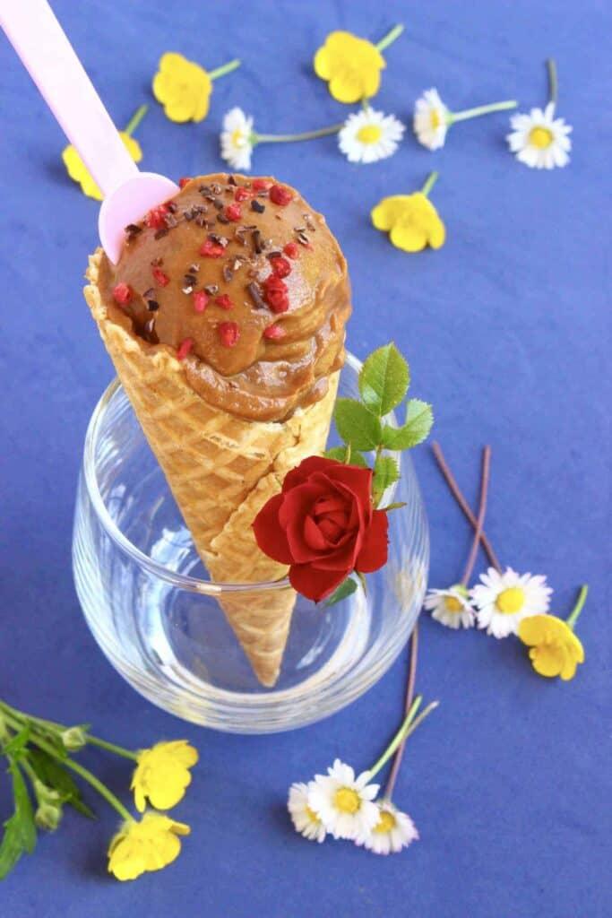 Vegan Chocolate Sweet Potato Ice Cream (GF)