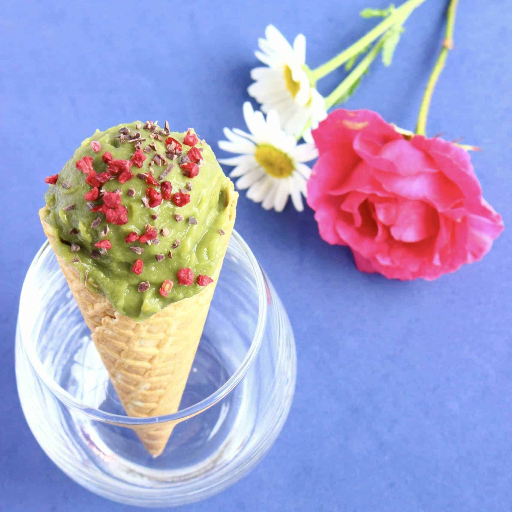 Vegan Matcha Sweet Potato Ice Cream