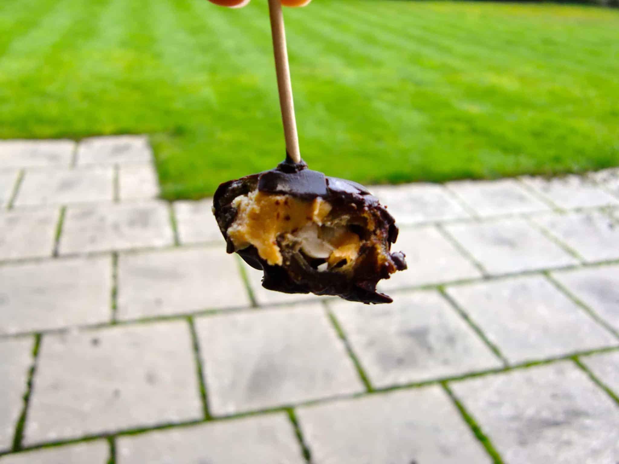 Snickers Ice Cream Bites (Vegan + GF)