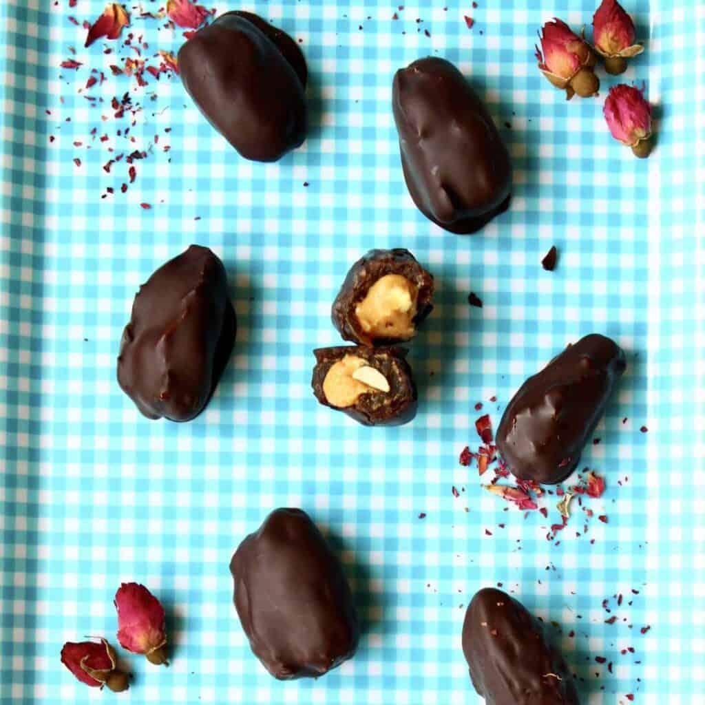 Healthy Snickers Ice Cream Bites (Vegan + GF)