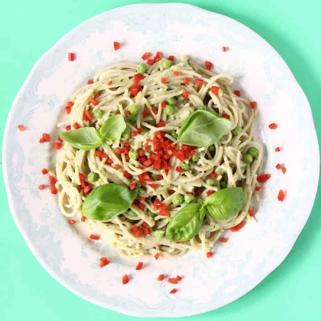 Creamy Vegan Pesto Pasta (GF)