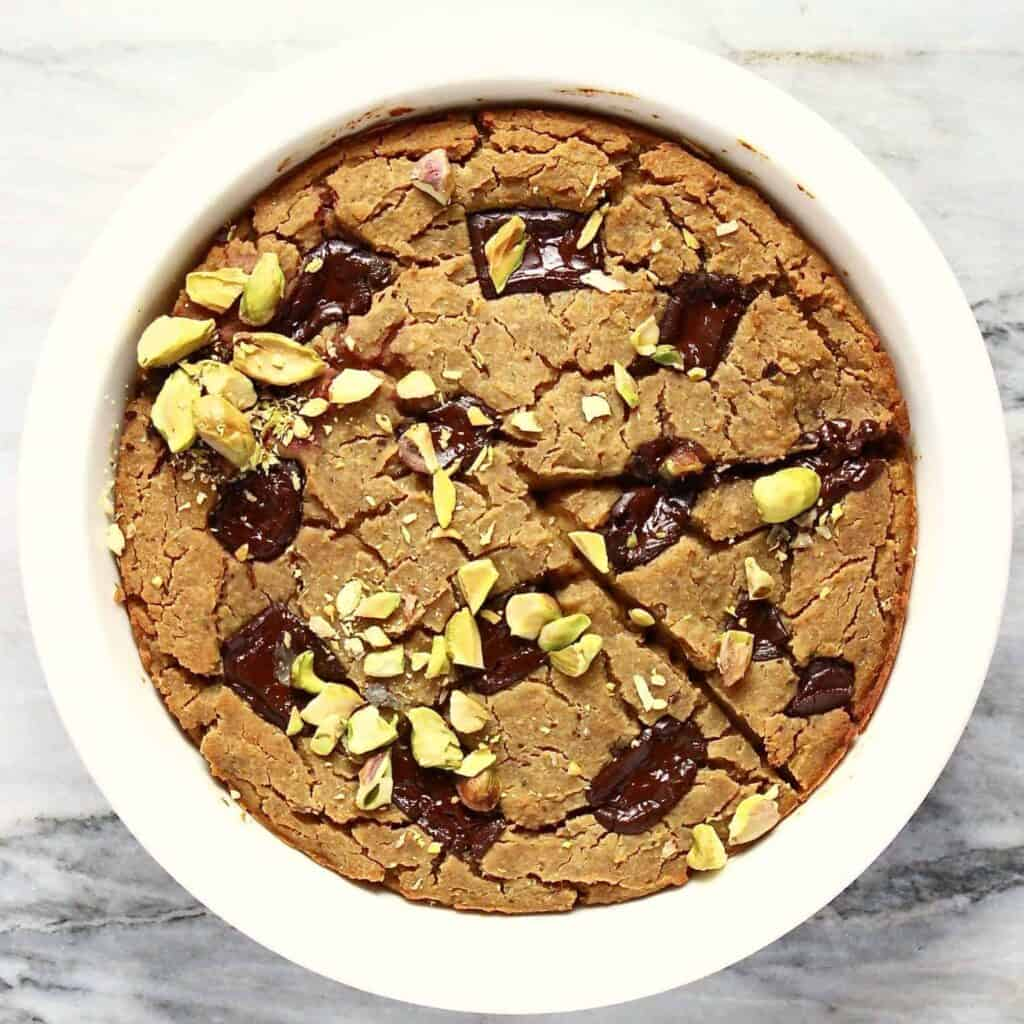 Gluten-Free Vegan Deep-Dish Cookie