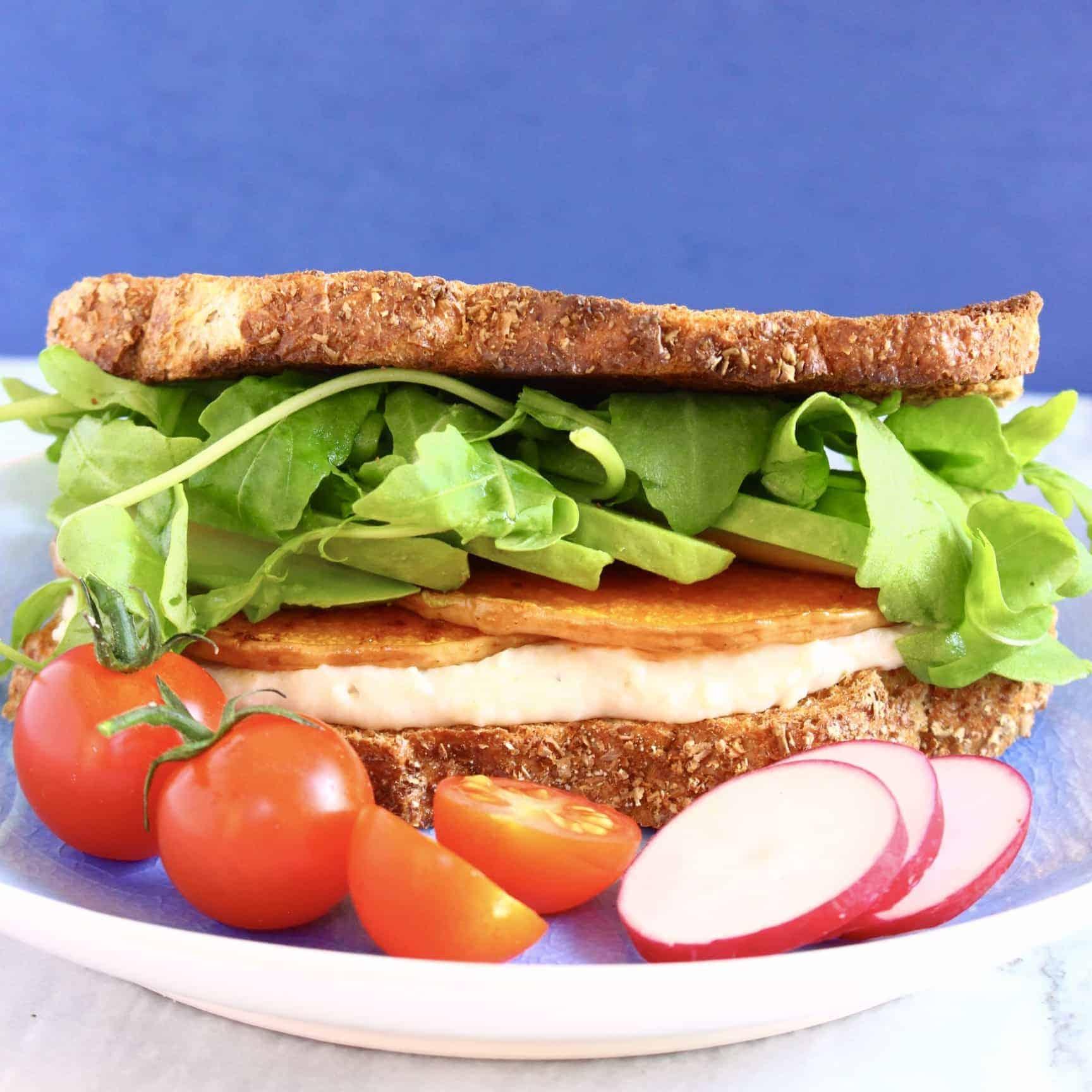 Vegan Hummus Toasted Sandwich (GF)