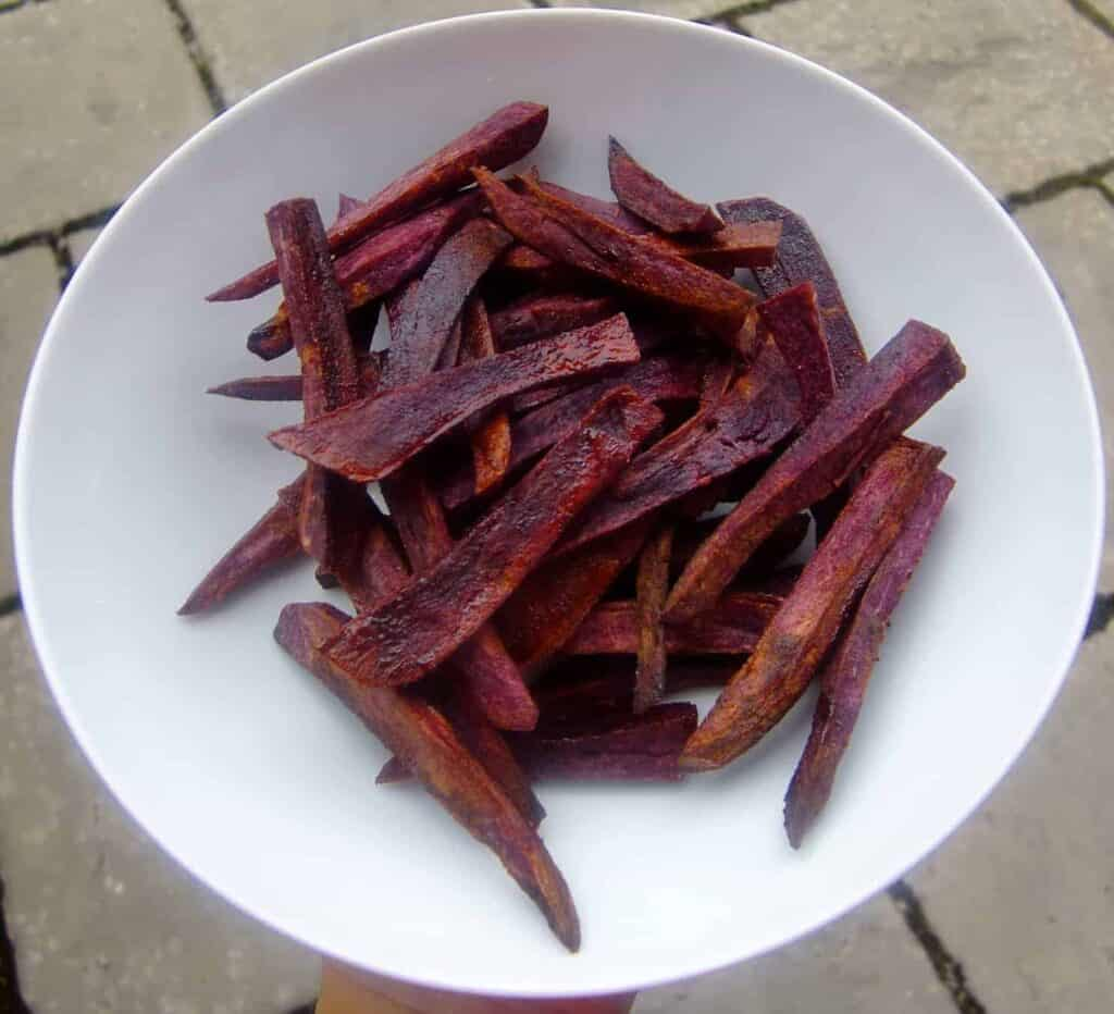 Purple Sweet Potato Dessert Fries (Vegan + GF)