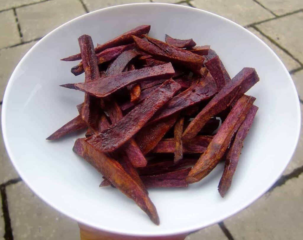 Purple Sweet Potato Dessert Fries (Vegan + GF)