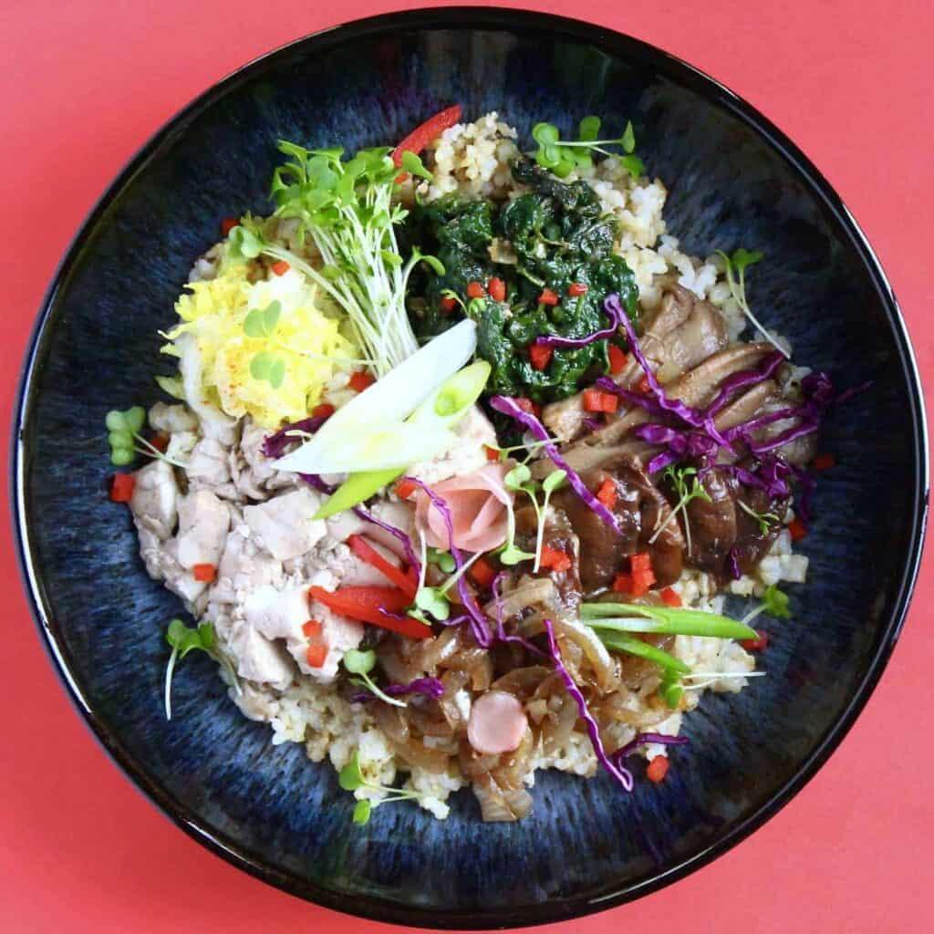 Vegan Oyster Mushroom Bibimbap (GF)