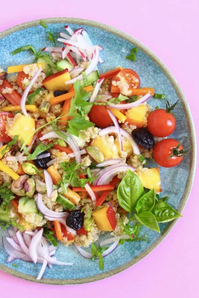 Nectarine Quinoa Buckwheat Tabbouleh (Vegan + GF)