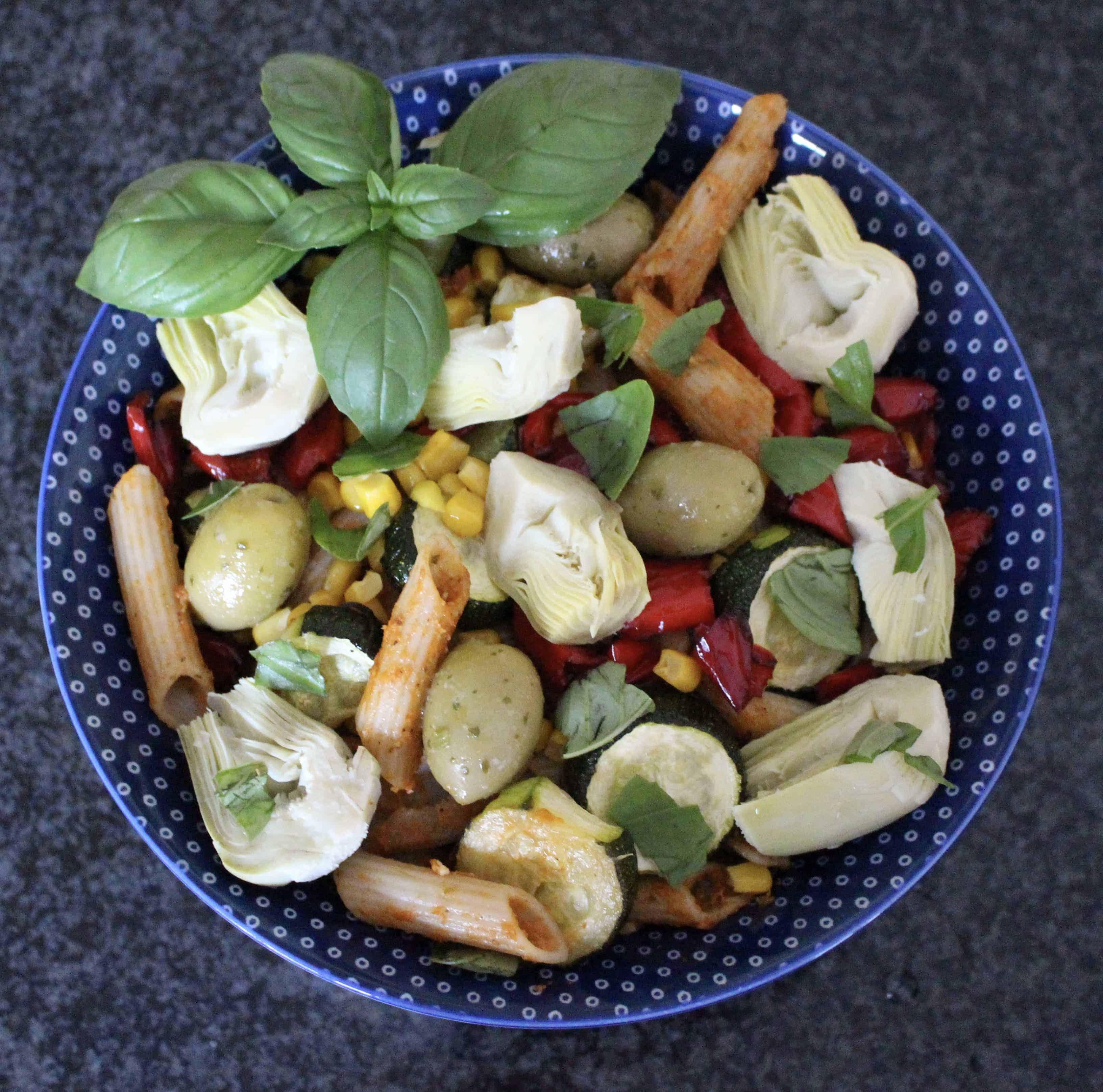 Sundried Tomato Pesto Pasta Salad (Vegan + GF)