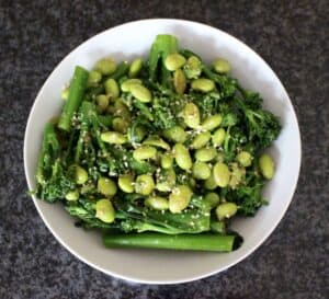 Broccoli and Edamame with Sesame Dressing