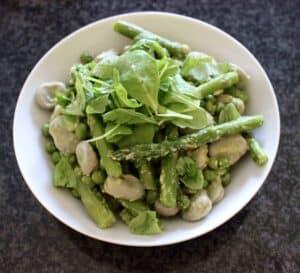 Pea, Broad Bean and Asparagus Pesto Salad