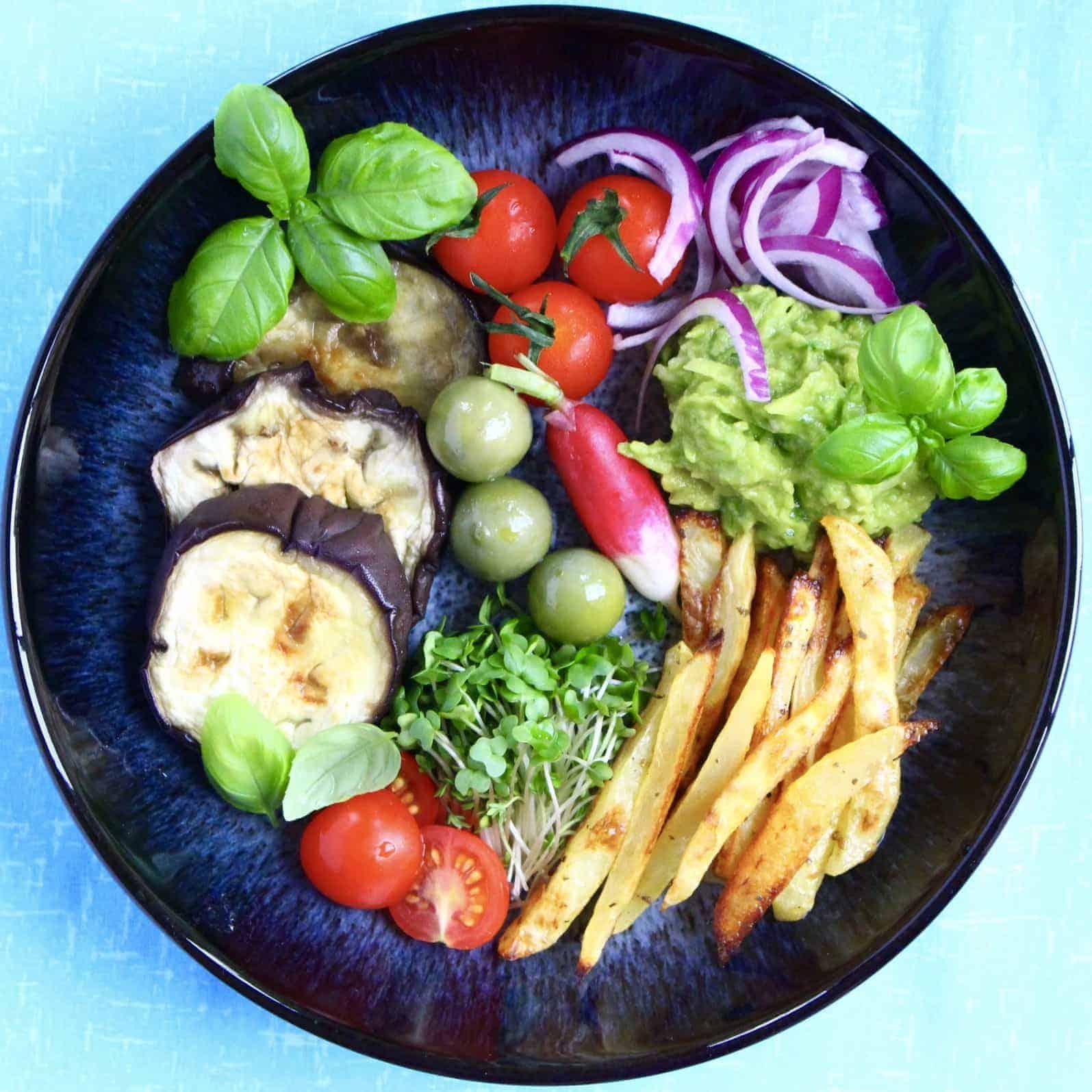 Vegan Souvlaki Bowl with Avocado Tzatziki (GF)