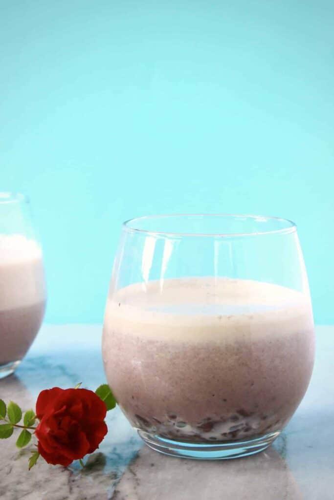 Vegan Adzuki Milkshake 2 Ingredients