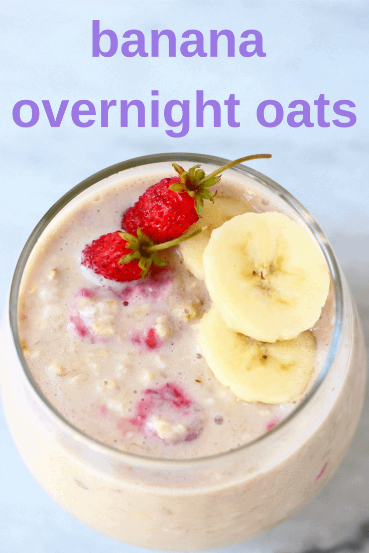 These Banana Overnight Oats are thebest healthy yet filling make-ahead breakfast! They're vegan, gluten-free, dairy-free and completely free from added sugar. They're customisable to suit your dietaryneeds and preferences and super quick and easy to make. #vegan #dairyfree #glutenfree #sugarfree #banana #oatmeal #breakfast