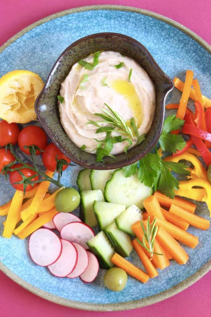 Prezzo-Inspired Italian Hummus (Vegan + GF)