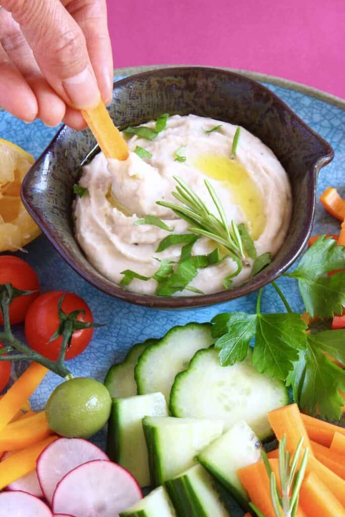 Italian Hummus (Vegan + GF)