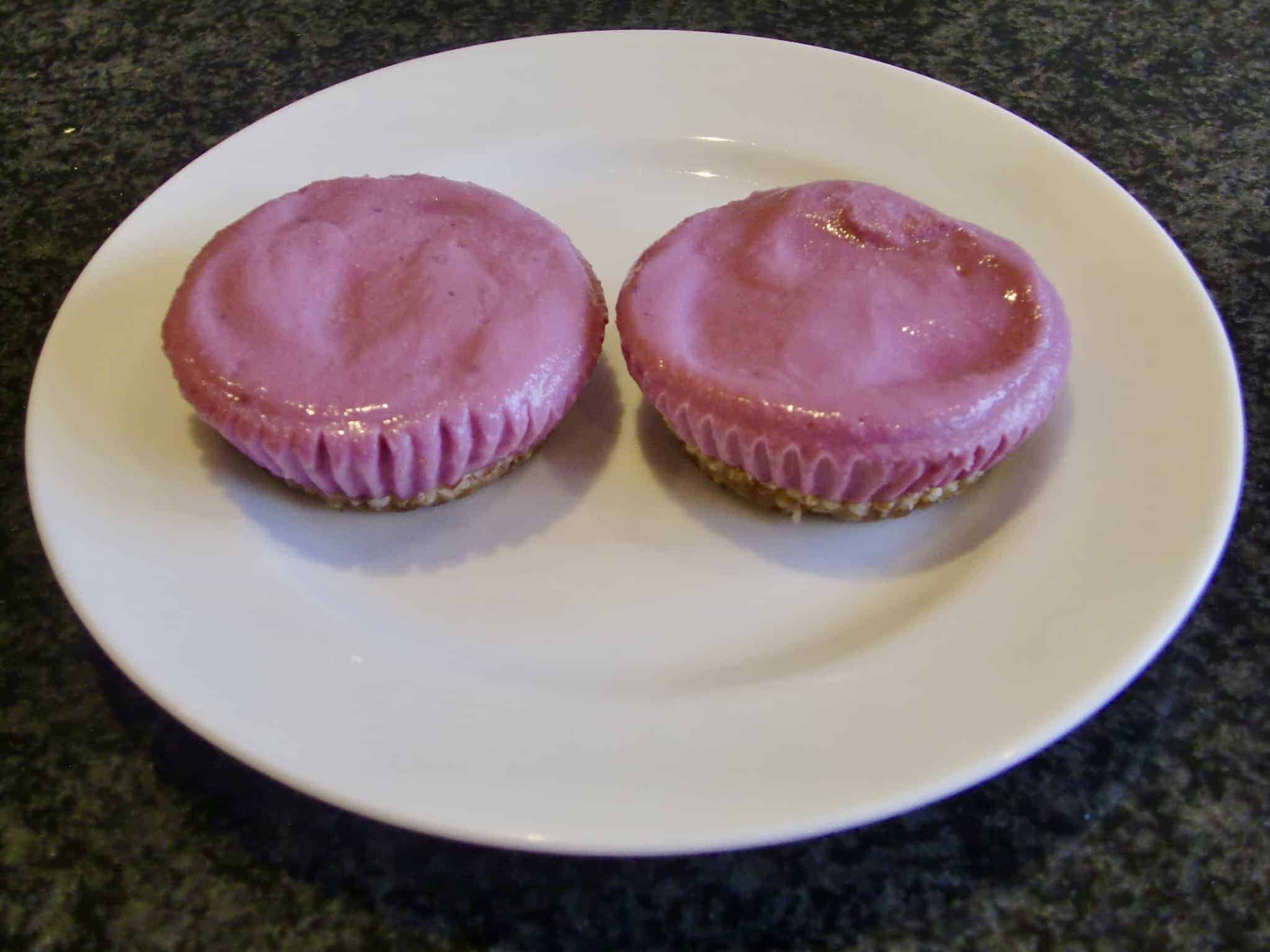 Purple Sweet Potato Cheesecakes (Vegan + GF)