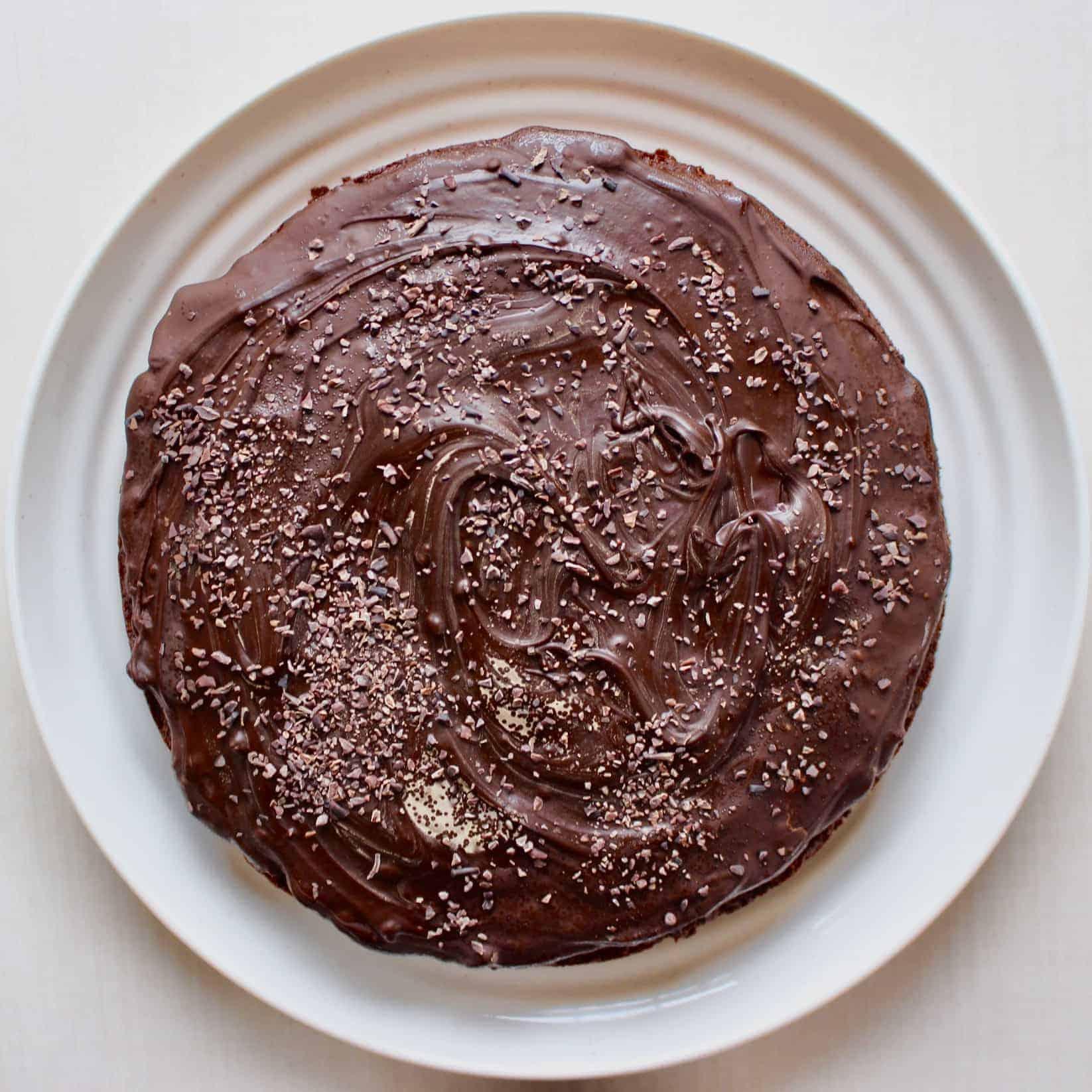 Gluten-Free Vegan Chocolate Hazelnut Cake