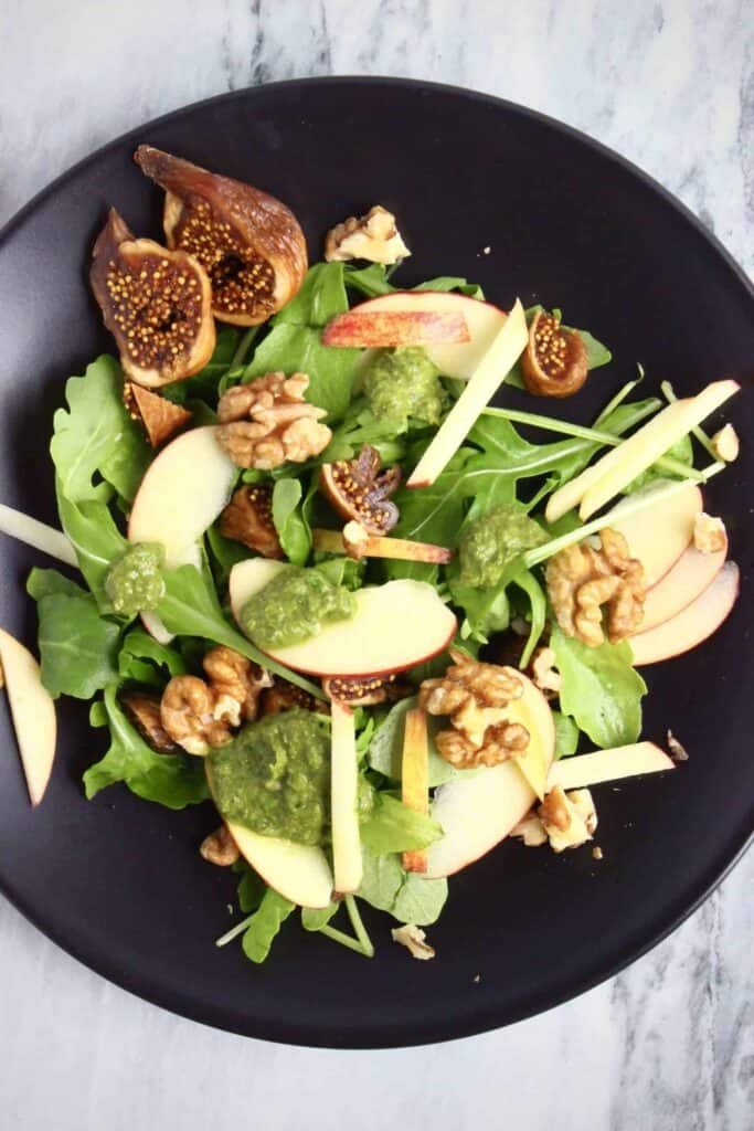 Apple Fig Walnut Rocket Salad (Vegan + GF)