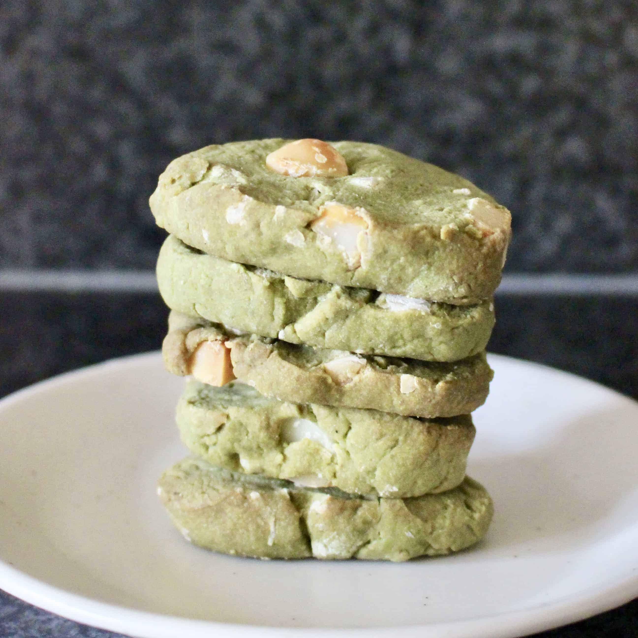 Vegan Matcha Green Tea Shortbread