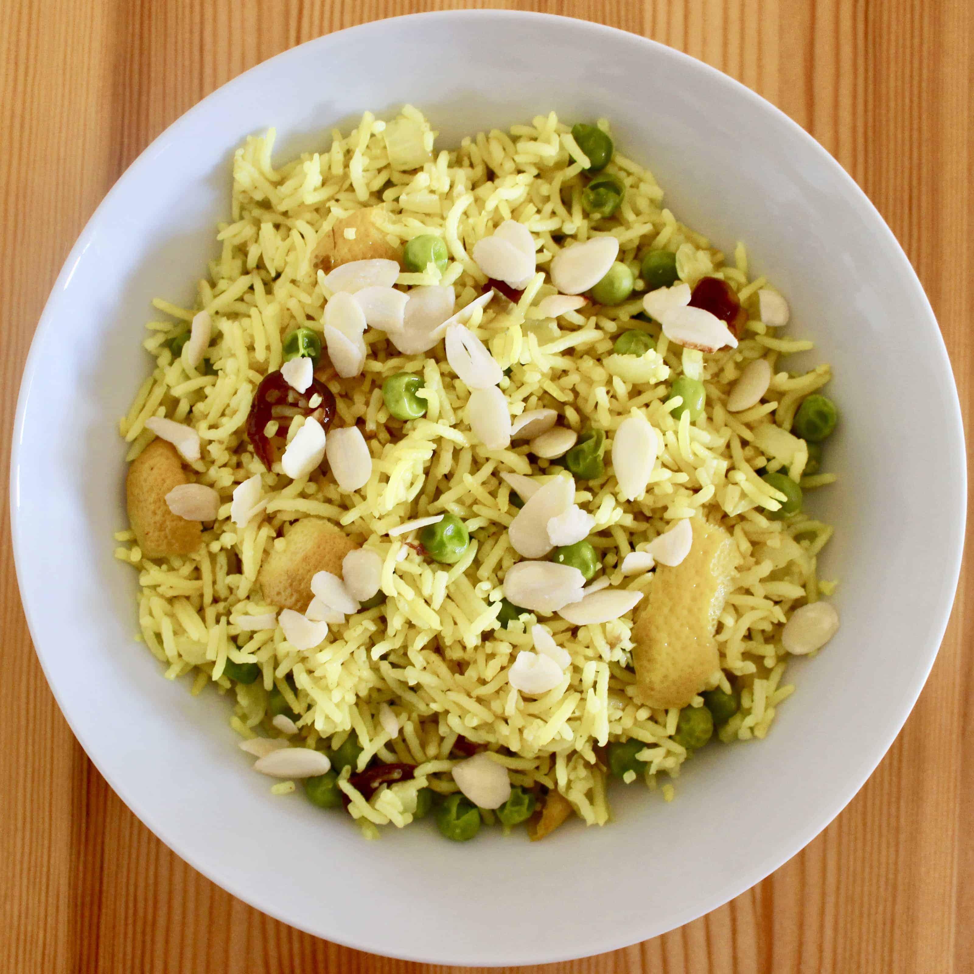 Yellow Turmeric Rice (Vegan + GF)
