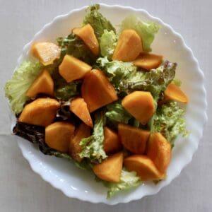 Yuzu Dressing Persimmon Salad (Vegan + GF)