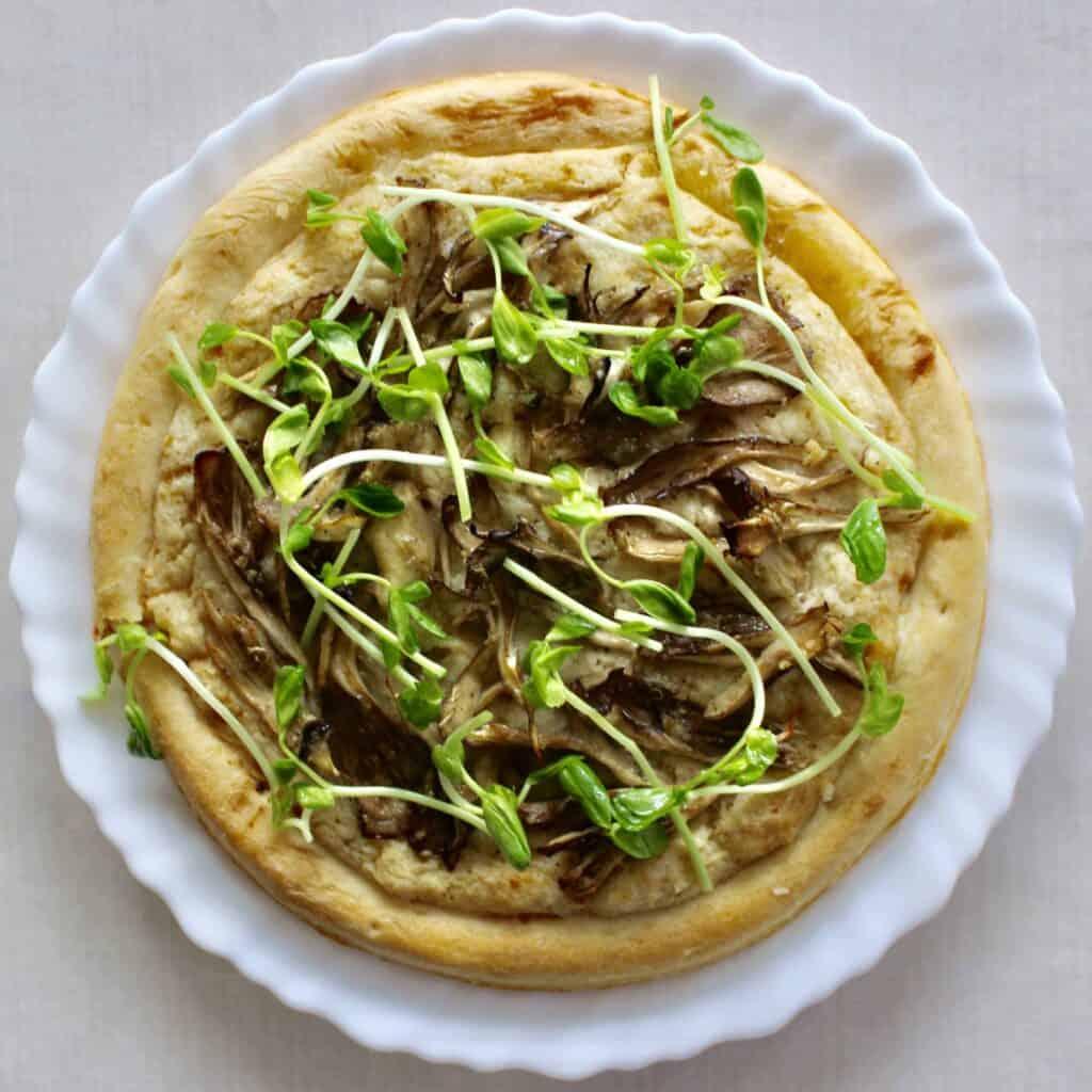 Vegan Japanese Mushroom Pizza (GF)