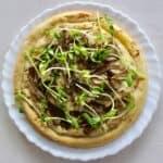 Vegan Japanese Mushroom Pizza