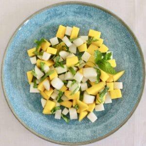 Mango Daikon Radish Mint Salad