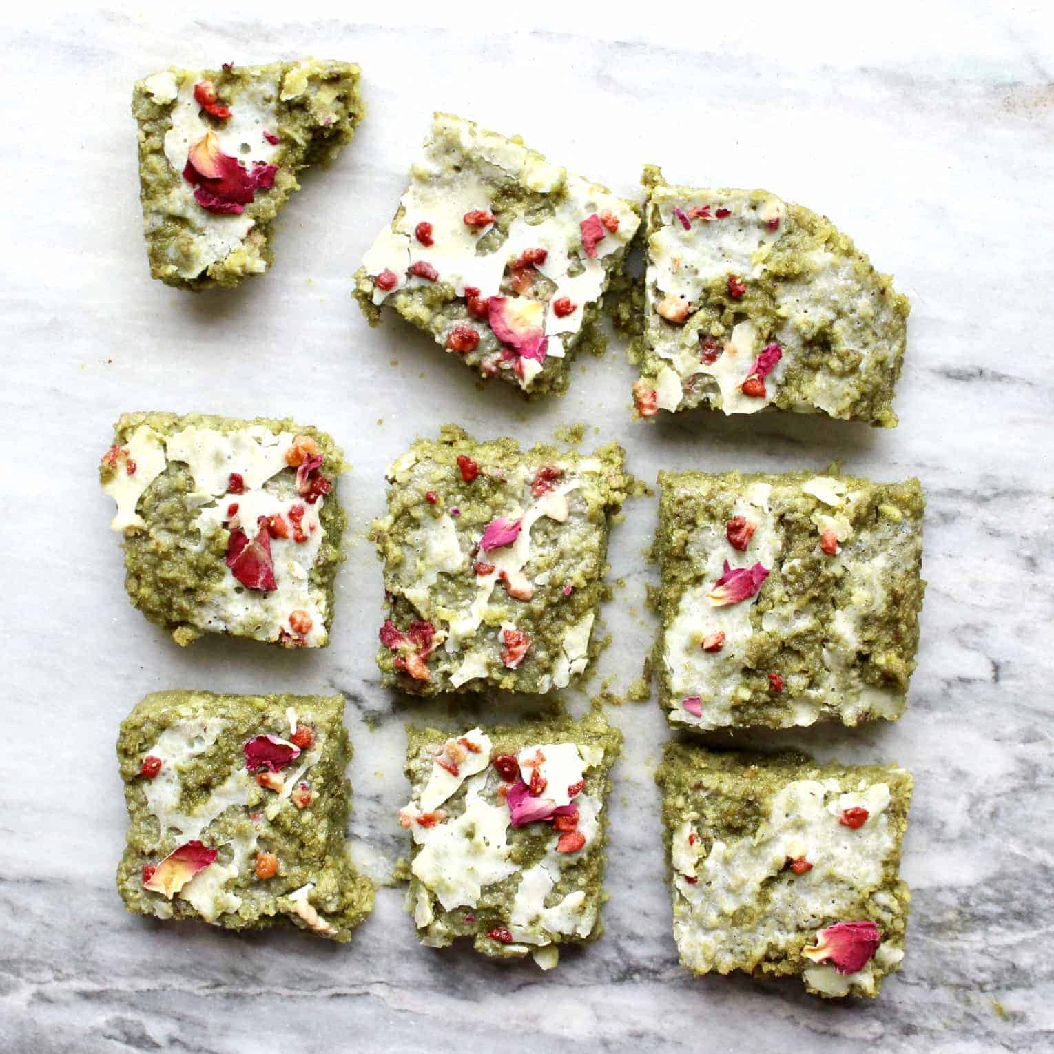 Gluten-Free Vegan Matcha Brownies