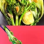 A collage of two Wagamama Wok-Fried Greens photos