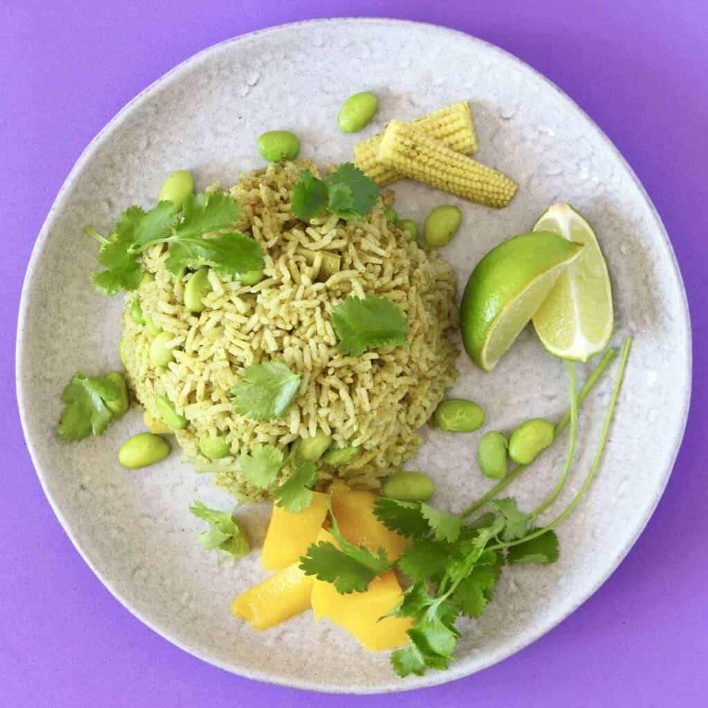 Thai Green Curry Rice (Vegan + GF)