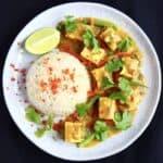Peanut Tofu Satay Curry (Vegan + GF)