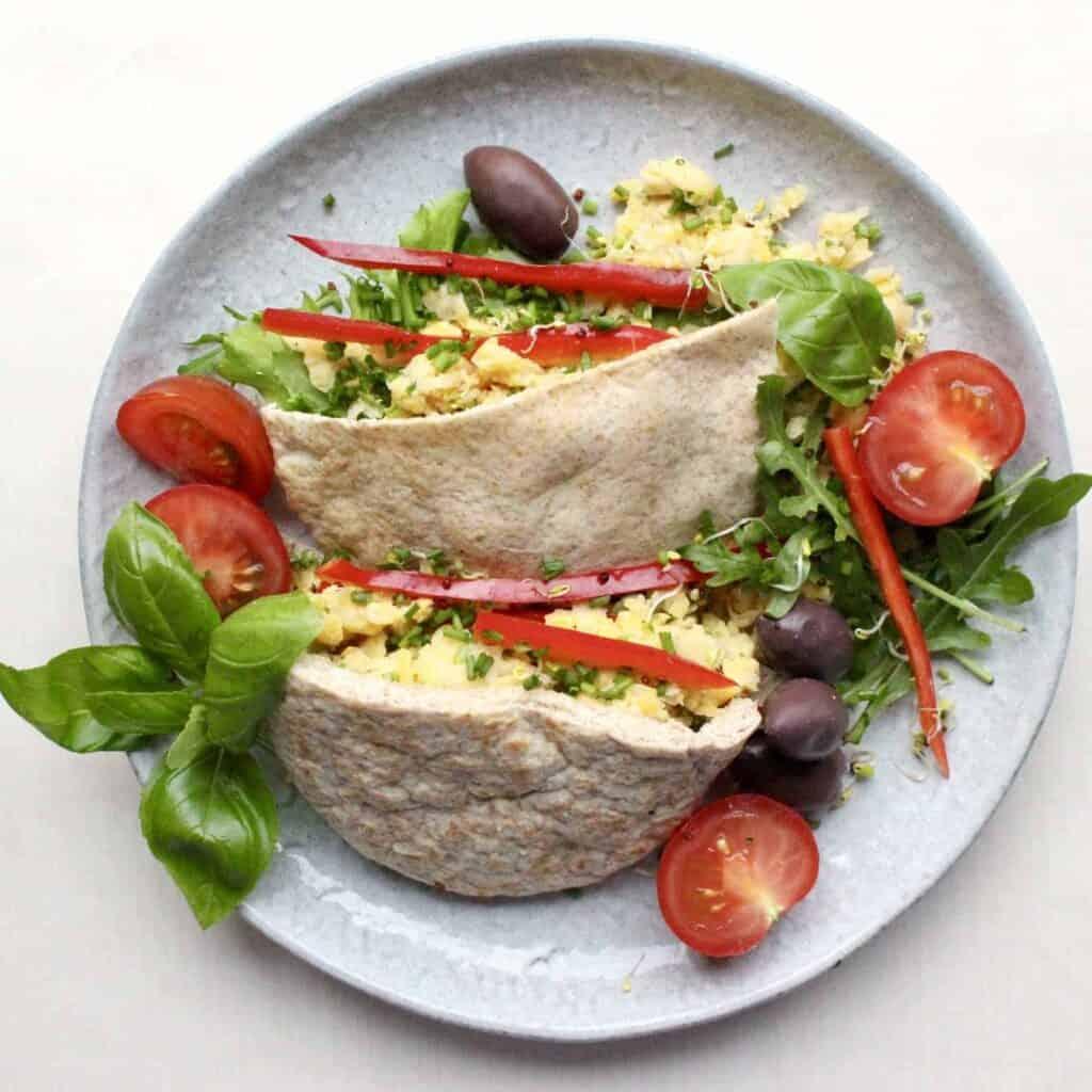Mediterranean Chickpea Tuna Pittas (Vegan + GF)
