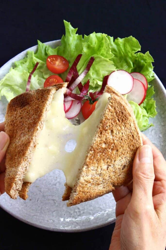 Vegan Stretchy Melty Grilled Cheese (GF)
