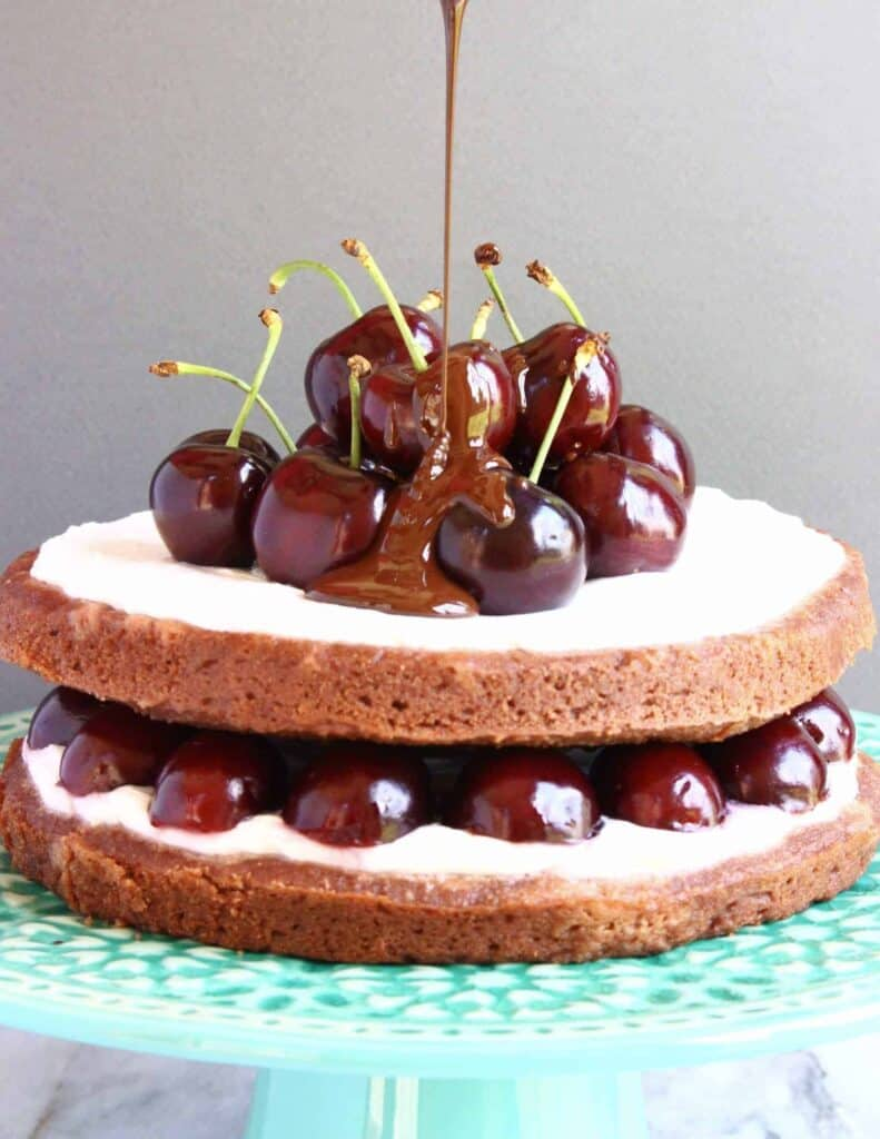 Vegan Gluten Free Black Forest Cake
