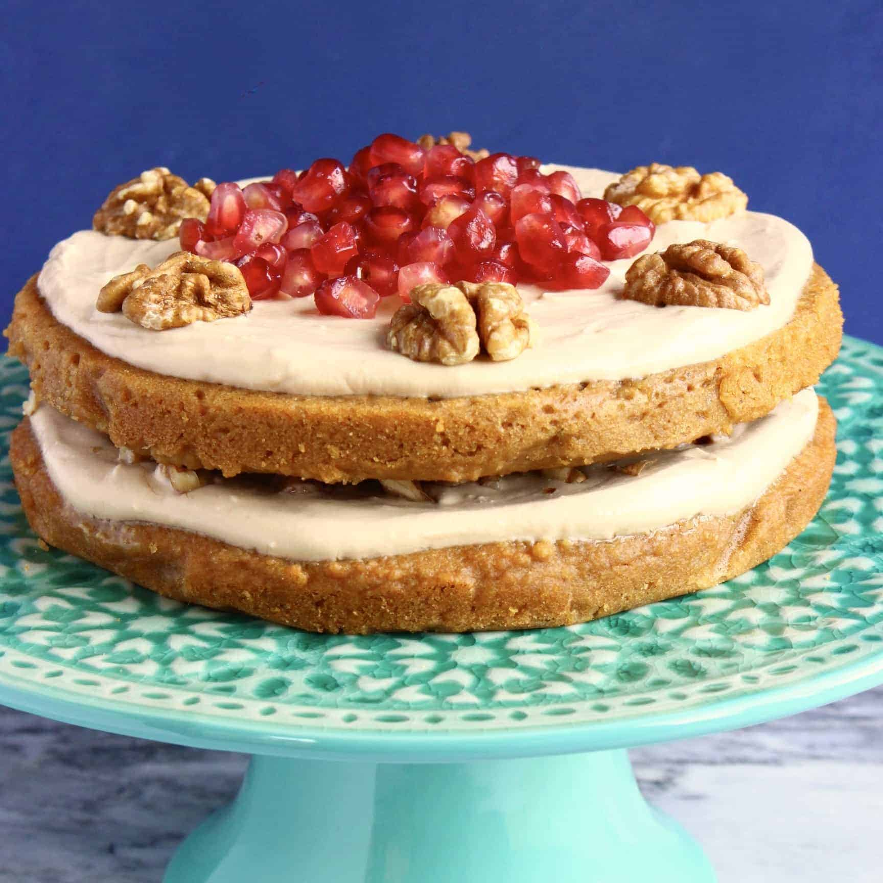 Gluten-Free Vegan Coffee Walnut Cake