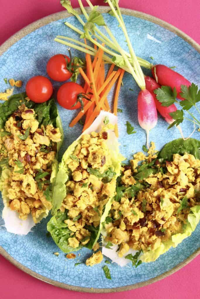 Lazy Falafel Lettuce Wraps (Vegan + GF)