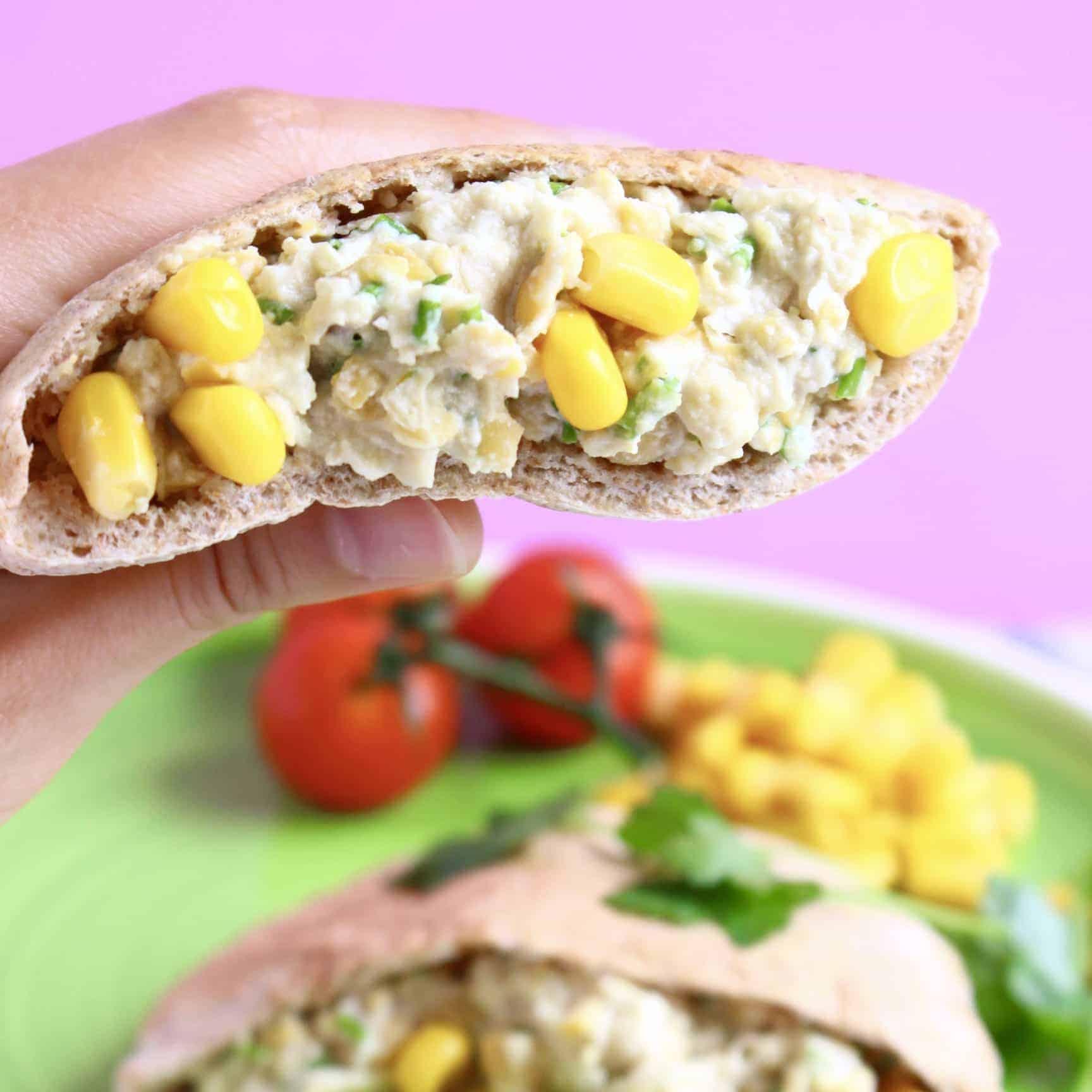 Vegan Chickpea Mayonnaise Salad Sandwich (GF)