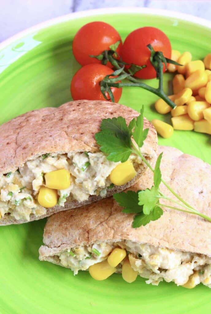 Vegan Chickpea Mayonnaise Salad Sandwich (GF)